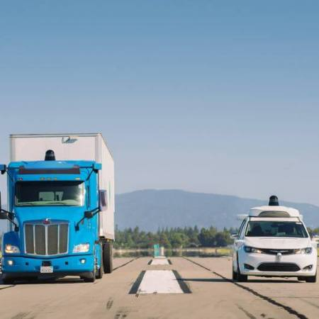 waymo truck and minivan