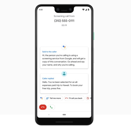 google assistant screen calls